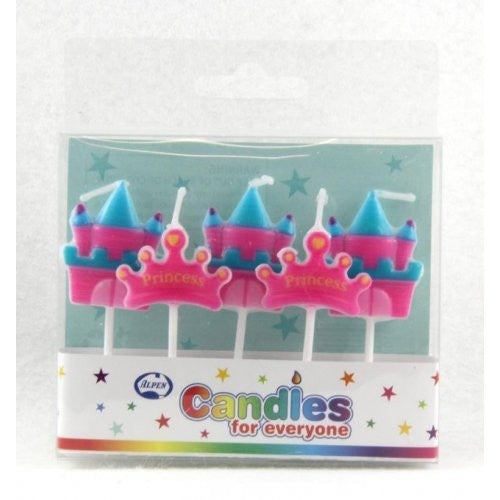 CANDLE PRINCESS CROWN & CASTLE 5PC