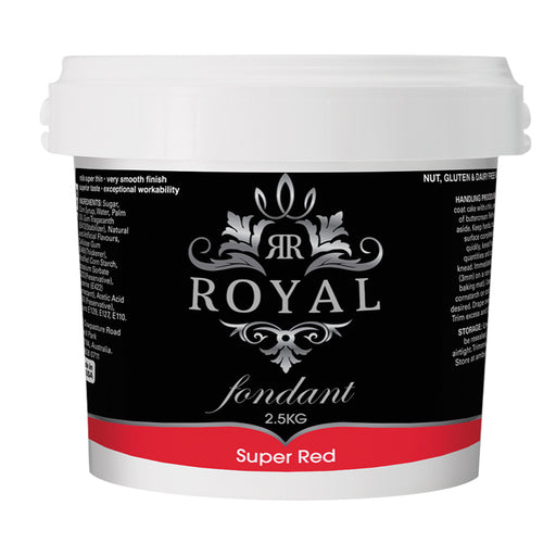 ROYAL FONDANT 2.5KG SUPER RED
