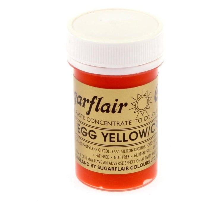 SUGARFLAIR PASTE 25G EGG YELLOW