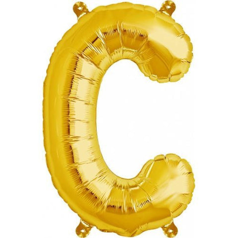 "ALPHABET BALLOON GOLD 16"" C"