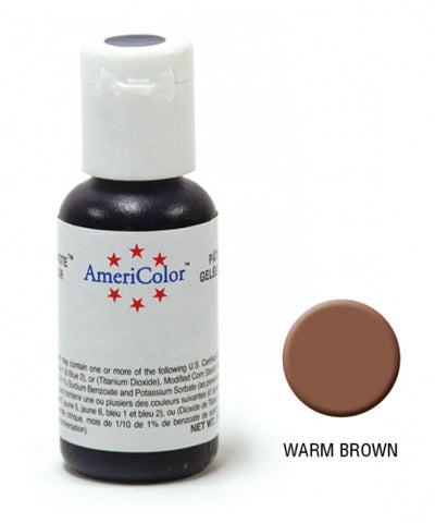 AMERICOLOR GEL COLOUR 21G WARM BROWN