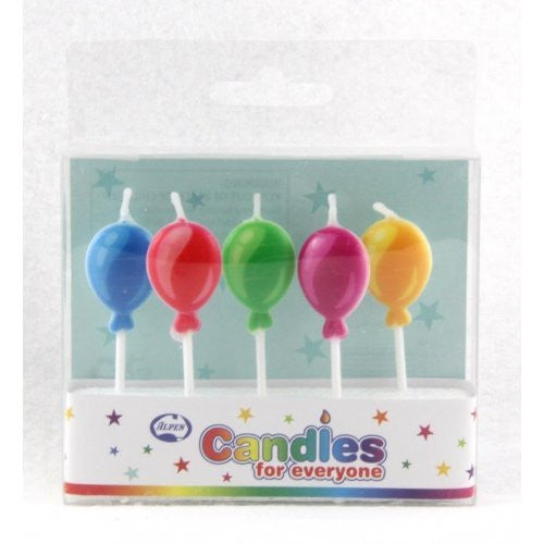 CANDLE BALLOONS 5PC