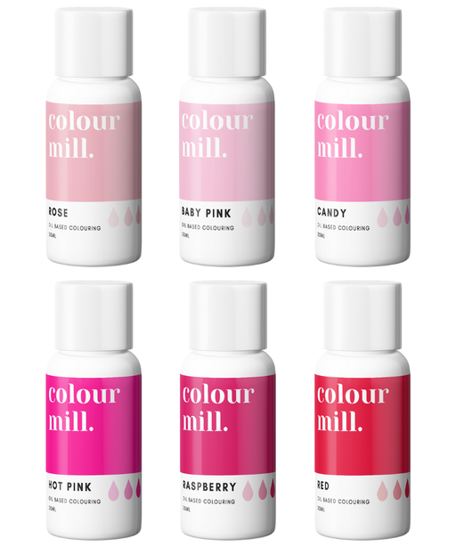 COLOUR MILL OIL BASED COLOURING 20ML 6PC PINK