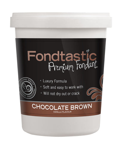 FONDTASTIC FONDANT 908G CHOCOLATE BROWN