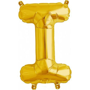 "ALPHABET BALLOON GOLD 16"" I"