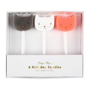 CANDLES CAT 6PC