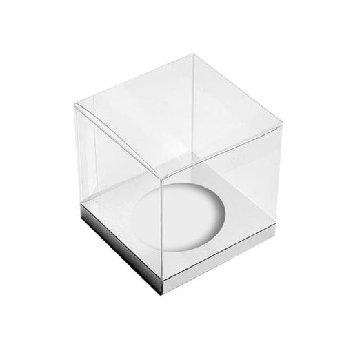 CUPCAKE BOX CLEAR 1 HOLE