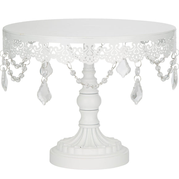 CAKE STAND CRYSTAL WHITE 10