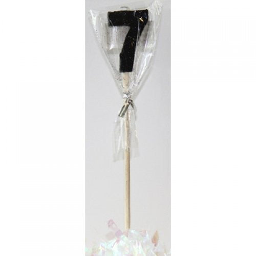 STICK CANDLE GLITTER BLACK #7
