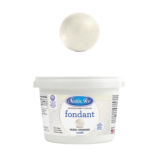 SATIN ICE SHIMMER FONDANT 454G PEARL