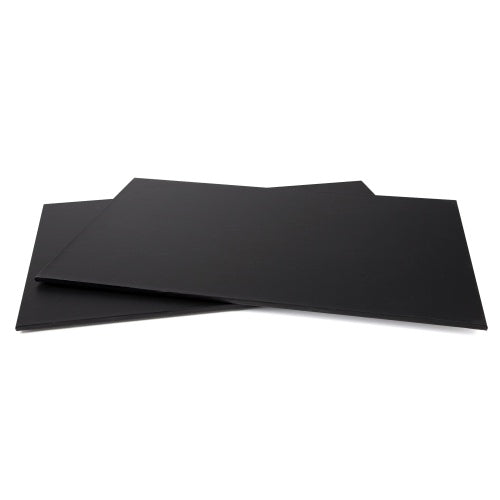MASONITE BOARD RECTANGLE BLACK 16X24""