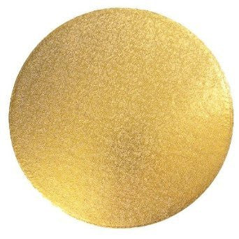 MASONITE BOARD ROUND GOLD 8""