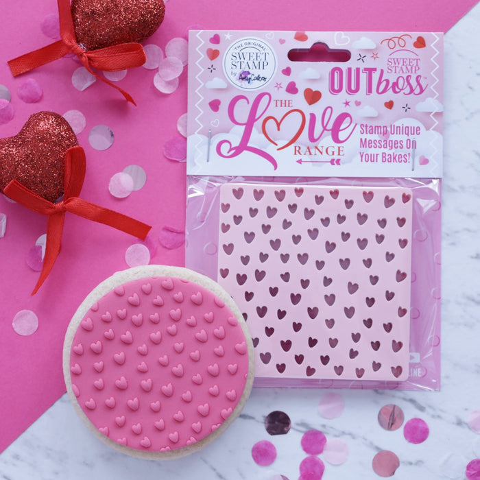 SWEET STAMP OUTBOSS TEXTURE TILES CUTE HEART PATTERN