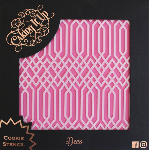 CAKING IT UP COOKIE STENCIL DECO