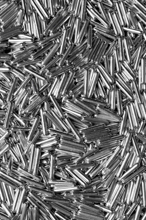 FANCY SPRINKLES 113G METALLIC RODS SILVER