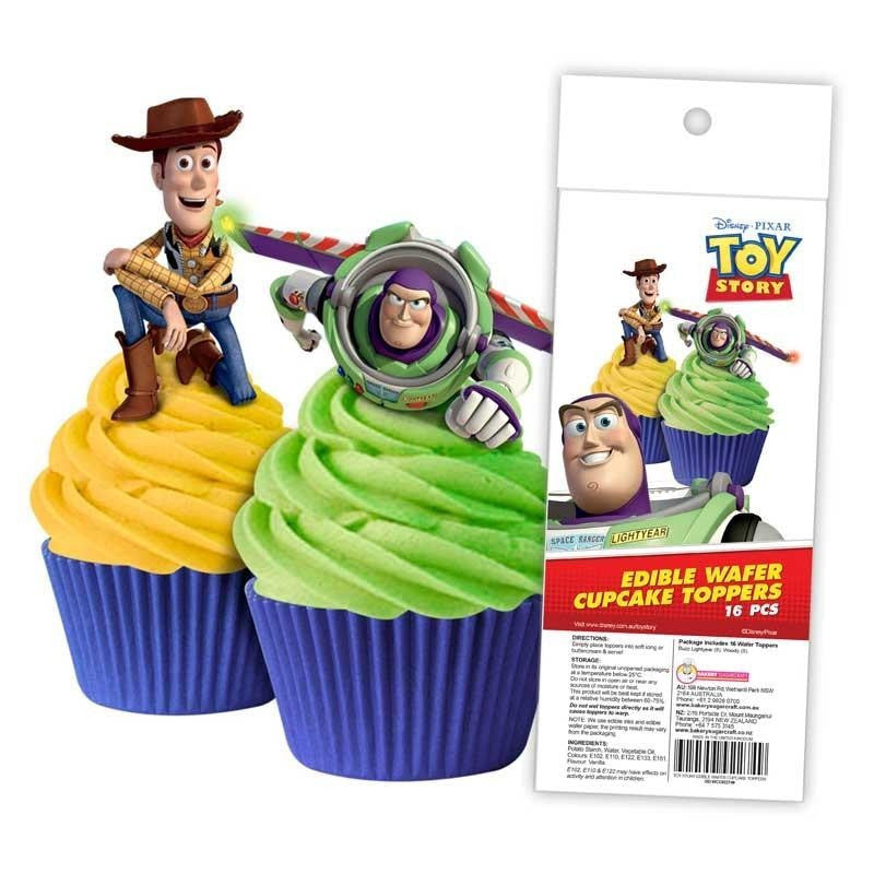Edible Wafer Cupcake Toppers 16pc Toy Story
