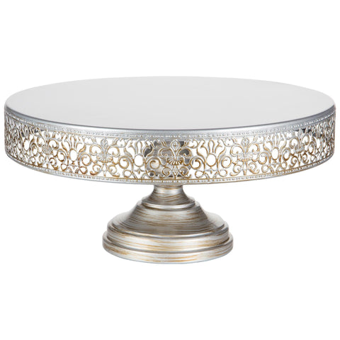 CAKE STAND SILVER 14""