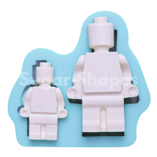 SILICONE MOULD LEGO MAN 2PC