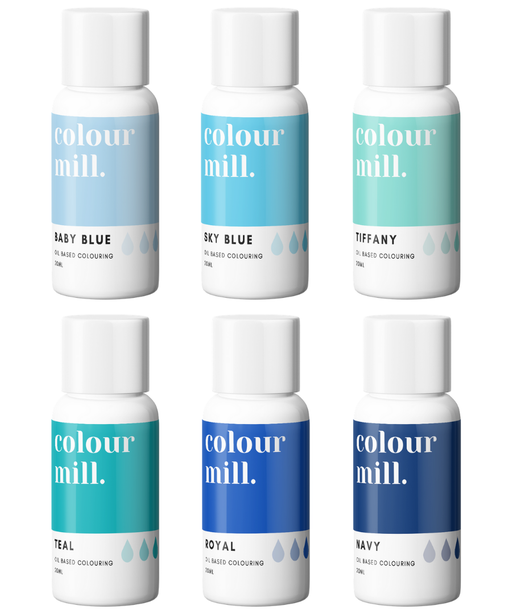 COLOUR MILL OIL BASED COLOURING 20ML 6PC BLUE
