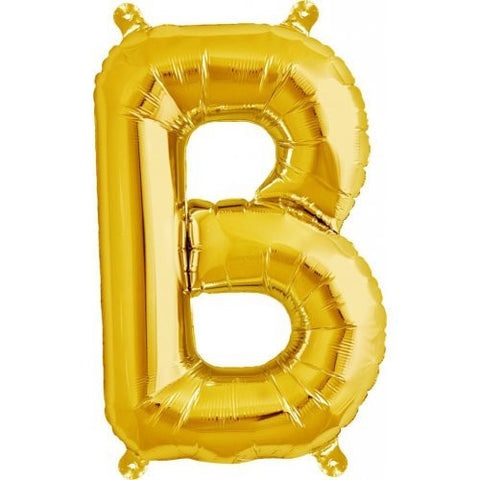 "ALPHABET BALLOON GOLD 16"" B"