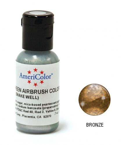 AMERICOLOR AIRBRUSH COLOUR 0.65OZ BRONZE SHEEN *CLEARANCE*