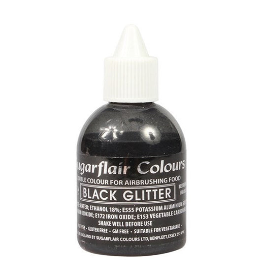 SUGARFLAIR AIRBRUSH GLITTER 60ML PEARL BLACK