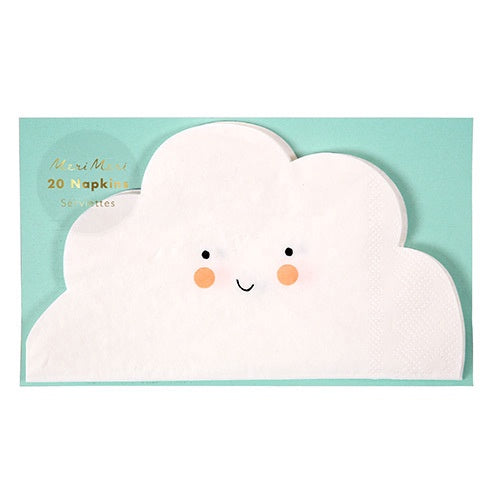 NAPKIN SET CLOUD 20PC