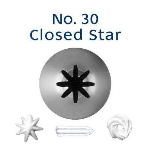 PIPING TIP CLOSED STAR #30