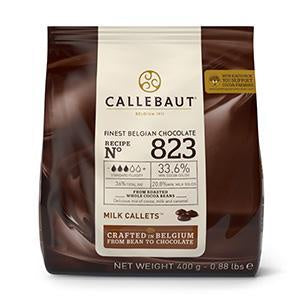 CALLEBAUT CHOCOLATE 400G 823NV MILK