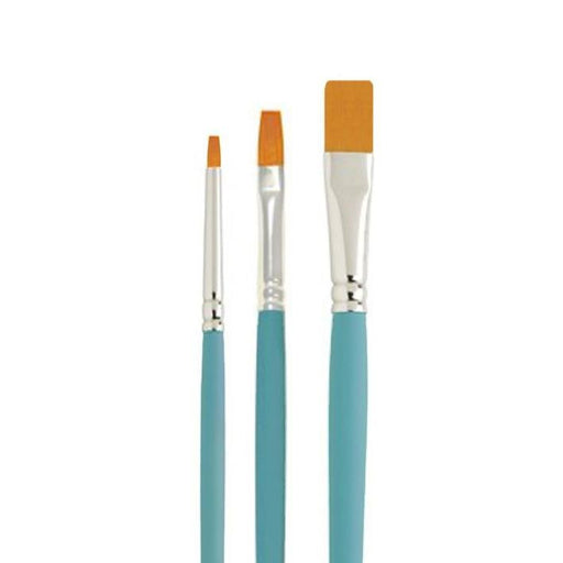 NYLON BRUSH SET FLAT 3PC