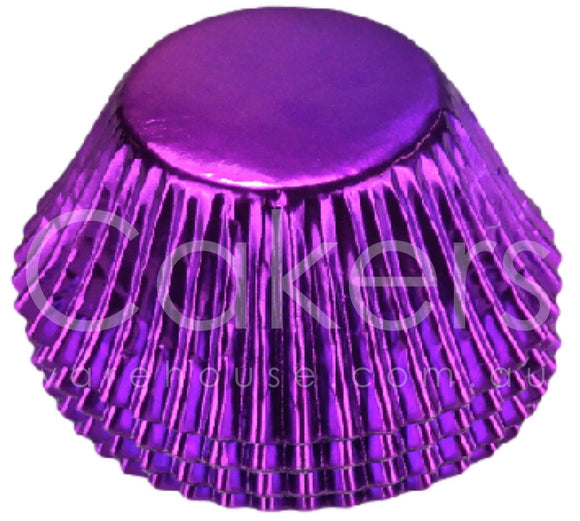 CUPCAKE FOIL 398 PURPLE 50PC