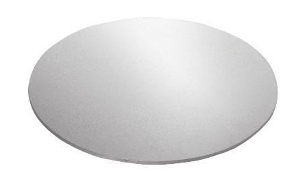 "MASONITE BOARD ROUND SILVER 9"" 10PC"