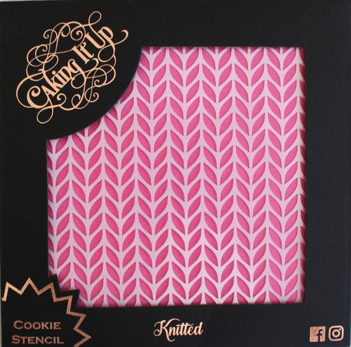 CAKING IT UP COOKIE STENCIL KNITTED