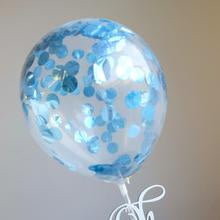 MINI CONFETTI BALLOON METALLIC BLUE 2PK