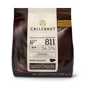 CALLEBAUT CHOCOLATE 400G 811 DARK