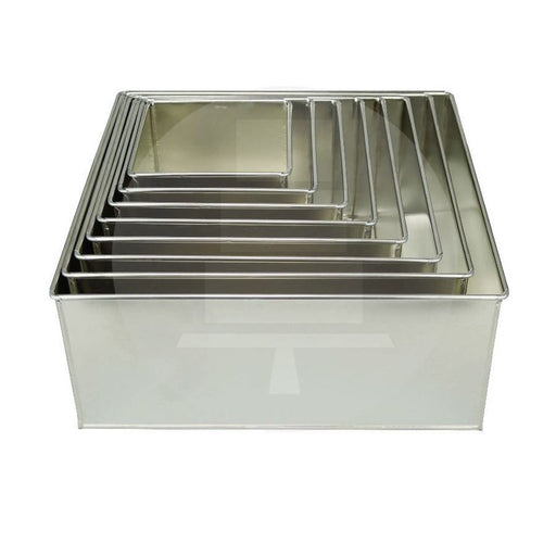 CAKE TIN DEEP SQUARE 10""