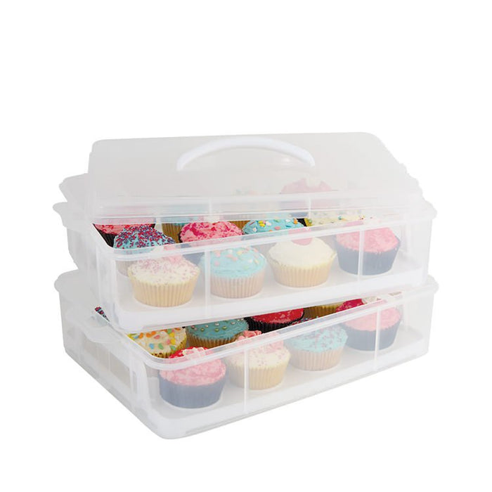 STACKABLE CUPCAKE CARRIER 24 HOLE