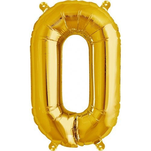 "ALPHABET BALLOON GOLD 16"" O"