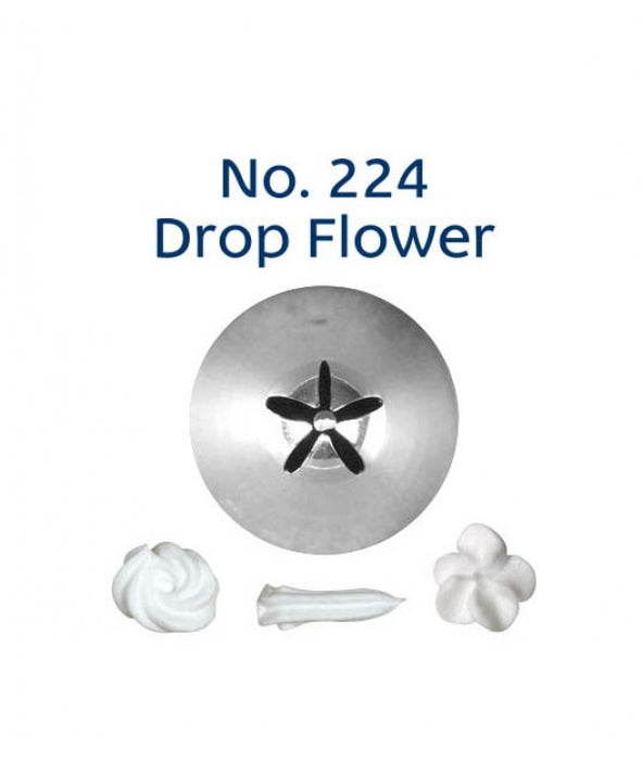PIPING TIP DROP FLOWER #224