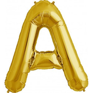 "ALPHABET BALLOON GOLD 34"" A"
