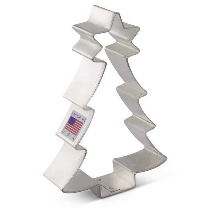 ANN CLARK COOKIE CUTTER CHRISTMAS TREE WITH STAR 4.5""
