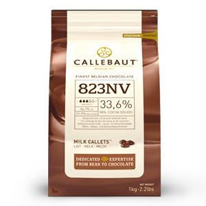 CALLEBAUT CHOCOLATE 1KG 823NV MILK