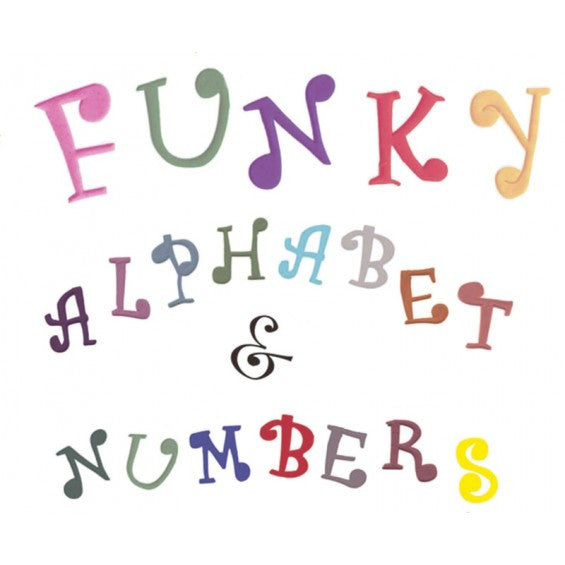 CUTTER ALPHABET & NUMBER FUNKY