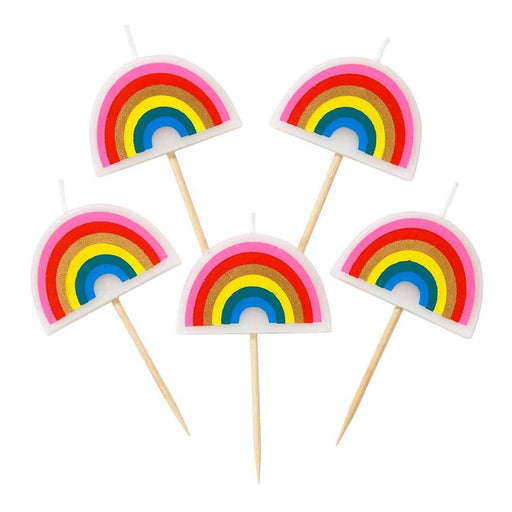 CANDLES RAINBOW 5PC