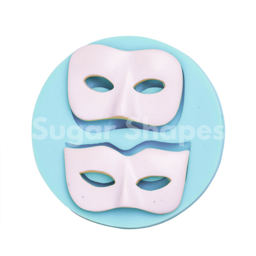 SILICONE MOULD MASQUERADE MASK 2PC