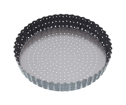 MASTERCRAFT CRUSTY BAKE LOOSE BASE ROUND FLAN/QUICHE PAN 25CM