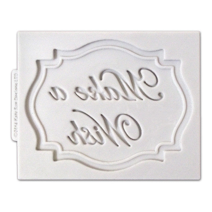 MOULD MINI PLAQUE MAKE A WISH