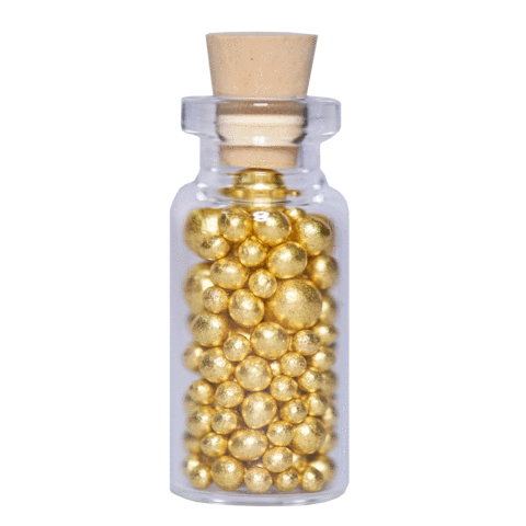 GOLD LEAF ARAZAN SUGAR PEARLS MIX 2.5G