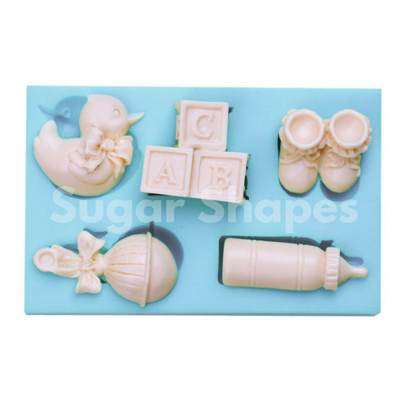 SILICONE MOULD BABY ASSORTED 5PC