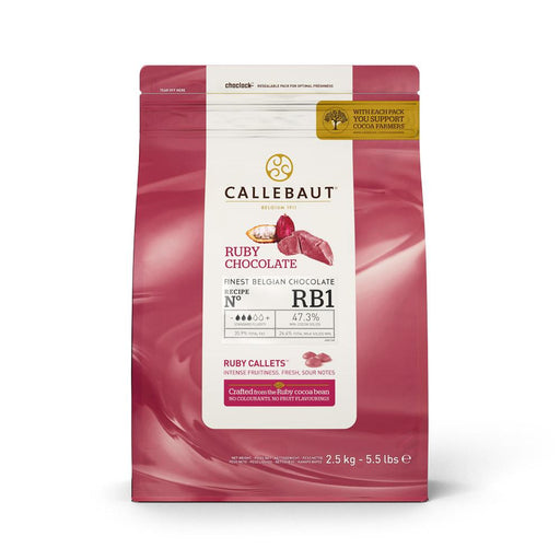 CALLEBAUT CHOCOLATE 2.5KG RUBY RB1